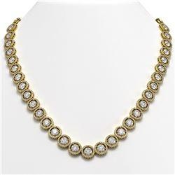 35.32 CTW Diamond Designer Necklace 18K Yellow Gold - REF-5509N8Y - 42670