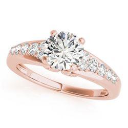 1.15 CTW Certified VS/SI Diamond Solitaire Ring 18K Rose Gold - REF-208K2W - 27607