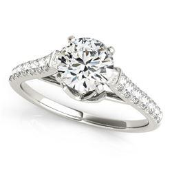 1.46 CTW Certified VS/SI Diamond Solitaire Ring 18K White Gold - REF-373K6W - 27573