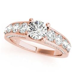 2.55 CTW Certified VS/SI Diamond Solitaire Ring 18K Rose Gold - REF-477A3X - 28138