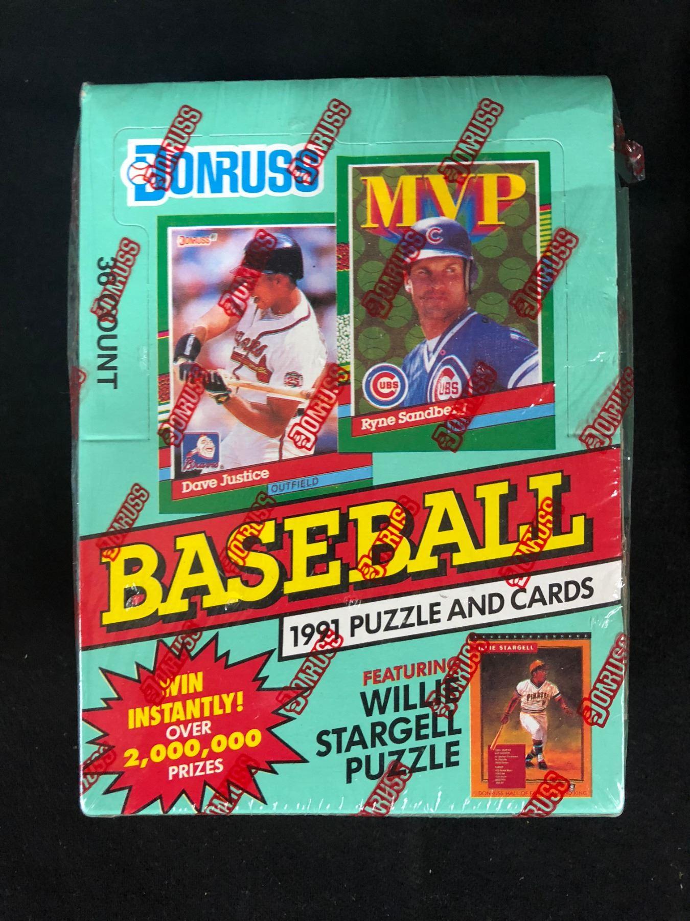 1991 Donruss Baseball Puzzle Cards Box