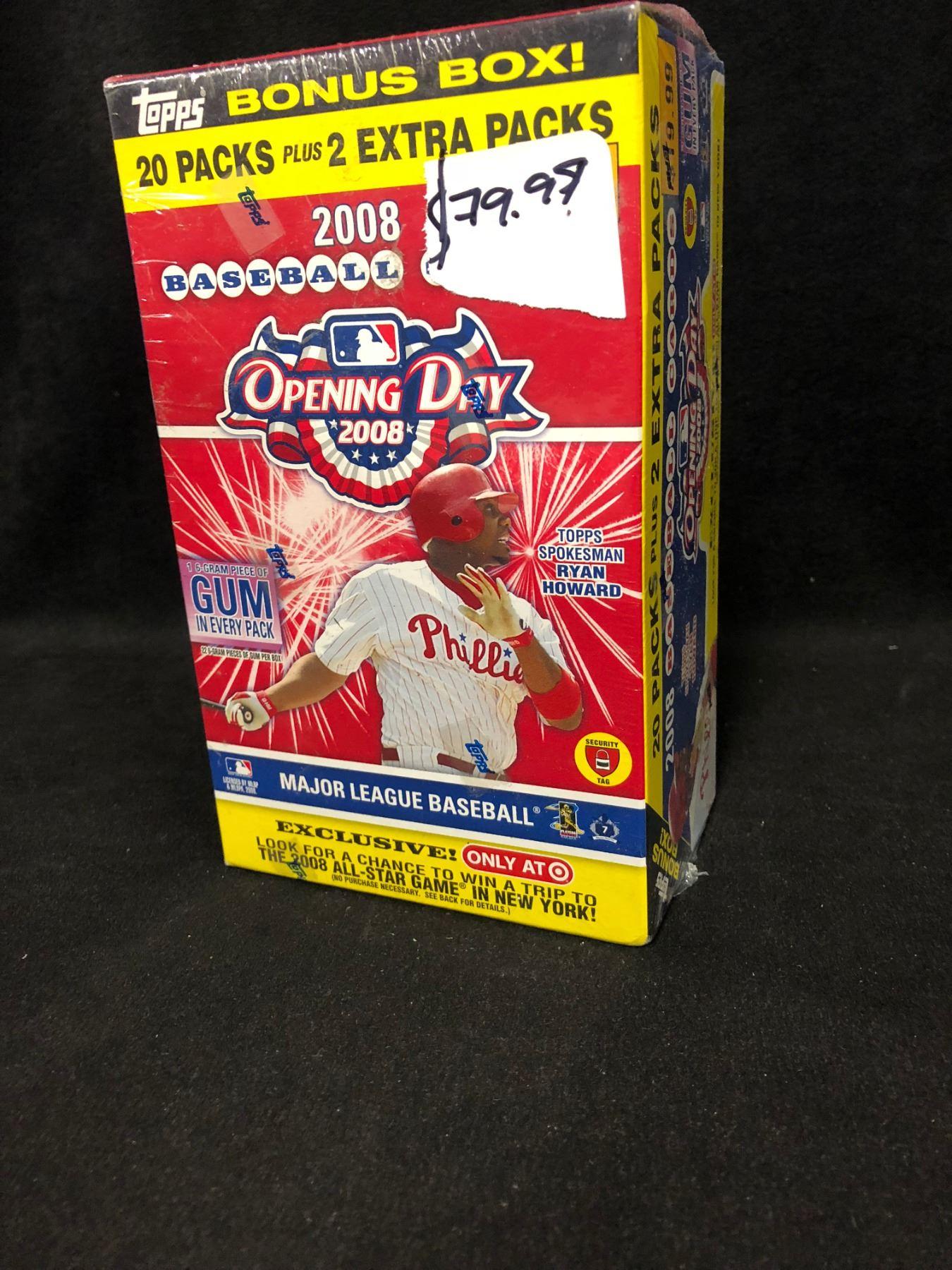 2008 Topps Baseball Opening Day Baseball Cards Bonus Box