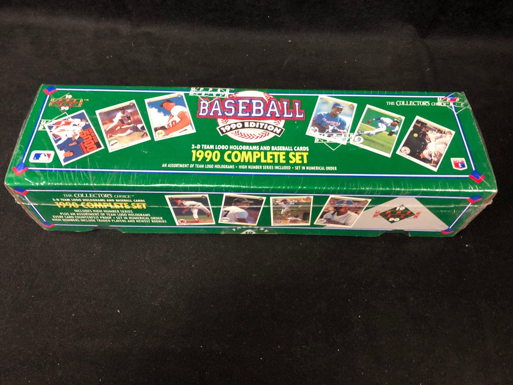 1990 Upper Deck Baseball Cards Complete Set