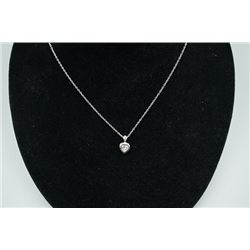 925 Silver Necklace with Zircon Pendant.