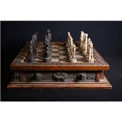 An Early 20th Century Chess with Chessboard.