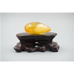 Baltic Amber Golden Pendant.