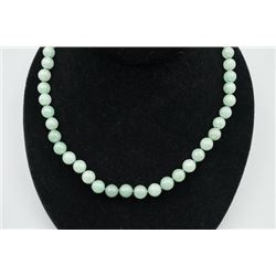 Russian Siberian Jade Necklace.