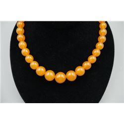 Baltic Butterscotch Amber Beads Necklace.