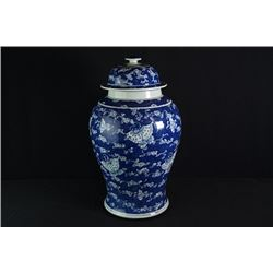 A Large Qing Dynasty Blue-and-White Jar