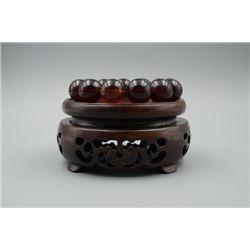 Blood Cherry Amber Beads Bracelet.