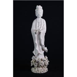 A porcelain statue(Guan Yin).