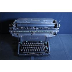 "An old ""Underwood"" typewriter."