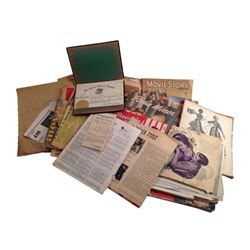 The Little Rascals Scotty Beckett Personal Vintage Birth Records, Diploma, Magazines Memorabilia