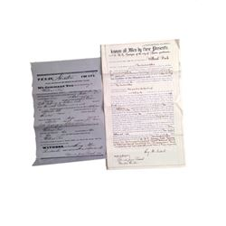 Django Unchained Dr. Schultz (Christoph Waltz) Bond and Warrant Papers for William Peck