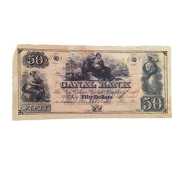 Django Unchained $50 Bank Note Movie Props