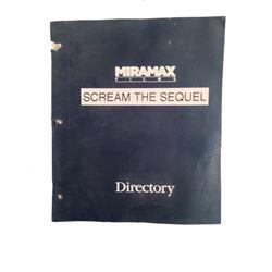 Scream 2 Signed Wes Craven Signed Script