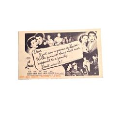 "Scotty Beckett Personal Collection ""Louisa"" Movie Ticket Memorabilia"