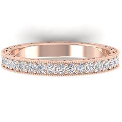 1 CTW Certified VS/SI Diamond Art Deco Eternity Band 14K Rose Gold - REF-78M2H - 30271