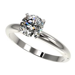 1.27 CTW Certified H-SI/I Quality Diamond Solitaire Engagement Ring 10K White Gold - REF-290F9N - 36