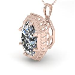 1 CTW VS/SI Oval Cut Diamond Solitaire Necklace 18K Rose Gold - REF-287H8A - 35999