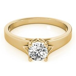0.75 CTW Certified VS/SI Diamond Solitaire Ring 18K Yellow Gold - REF-185N8Y - 27791