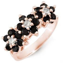 1.25 CTW VS Certified Black & White Diamond Ring 18K Rose Gold - REF-73F6N - 13768