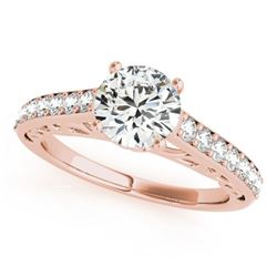 1.4 CTW Certified VS/SI Diamond Solitaire Ring 18K Rose Gold - REF-375K5W - 27649