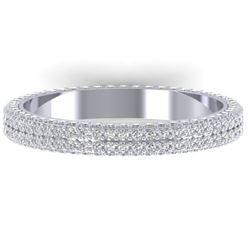 1.75 CTW Certified VS/SI Diamond Micro Eternity Ring 14K White Gold - REF-130W9F - 30267