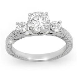 1.50 CTW Certified VS/SI Diamond Ring 18K White Gold - REF-405K9W - 13432