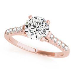 1.2 CTW Certified VS/SI Diamond Solitaire Ring 18K Rose Gold - REF-358W2F - 27583