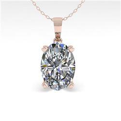 0.50 CTW VS/SI Oval Diamond Designer Necklace 14K Rose Gold - REF-81N3Y - 38407