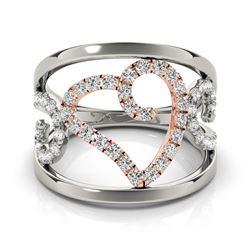 0.5 CTW Certified VS/SI Diamond Fashion Ring 18K White & Rose Gold - REF-75M6H - 28269