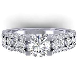 2.55 CTW Certified VS/SI Diamond Art Deco Micro Ring 14K White Gold - REF-431N5Y - 30297
