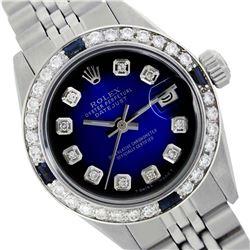 Rolex Ladies Stainless Steel, Diam Dial & Diam/Sapphire Bezel, Sapphire Crystal - REF-431N2A