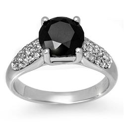 2.75 CTW VS Certified Black & White Diamond Ring 10K White Gold - REF-130A2X - 13496