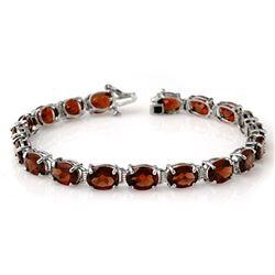 28.0 CTW Garnet Bracelet 10K White Gold - REF-70H2A - 14117