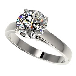 2.55 CTW Certified H-SI/I Quality Diamond Solitaire Engagement Ring 10K White Gold - REF-729W2F - 36