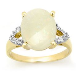 2.55 CTW Opal & Diamond Ring 10K Yellow Gold - REF-51T3M - 13362