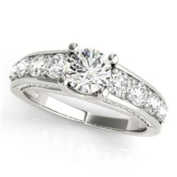 3.05 CTW Certified VS/SI Diamond Solitaire Ring 18K White Gold - REF-675W4F - 28140