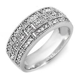 0.35 CTW Certified VS/SI Diamond Ring 10K White Gold - REF-40Y9K - 10207