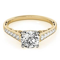 0.85 CTW Certified VS/SI Diamond Solitaire Ring 18K Yellow Gold - REF-110X8T - 27512