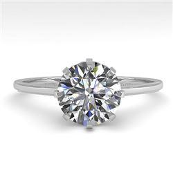 1.50 CTW Certified VS/SI Diamond Engagement Ring 18K White Gold - REF-567F2N - 35757