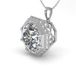1.50 CTW VS/SI Diamond Solitaire Necklace 18K White Gold - REF-525T6M - 36009