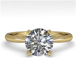 1.50 CTW VS/SI Diamond Engagement Designer Ring 14K Yellow Gold - REF-514Y8K - 38468