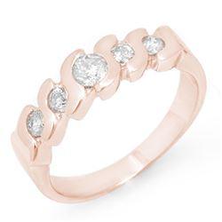 0.50 CTW Certified VS/SI Diamond Ring 14K Rose Gold - REF-50K9W - 11439
