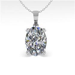 0.50 CTW VS/SI Oval Diamond Designer Necklace 14K White Gold - REF-81X3T - 38406