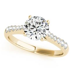 1.25 CTW Certified VS/SI Diamond Solitaire Ring 18K Yellow Gold - REF-363N6Y - 27434