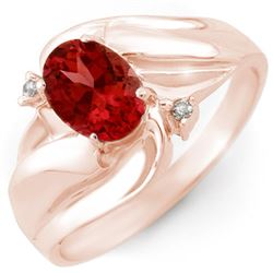 1.02 CTW Pink Tourmaline & Diamond Ring 10K Rose Gold - REF-22N2Y - 10847