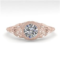 0.50 CTW VS/SI Diamond Solitaire Engagement Ring 18K Rose Gold - REF-107N3Y - 36017