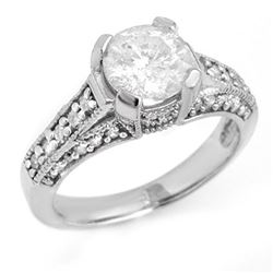 2.06 CTW Certified VS/SI Diamond Ring 18K White Gold - REF-530K3W - 14184